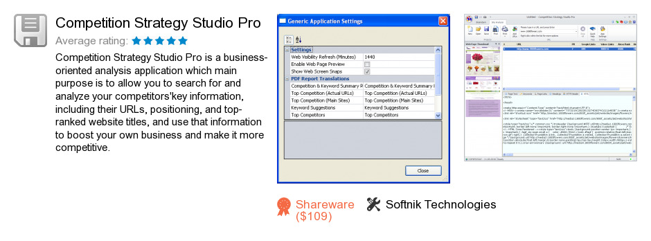 Competition Strategy Studio Pro