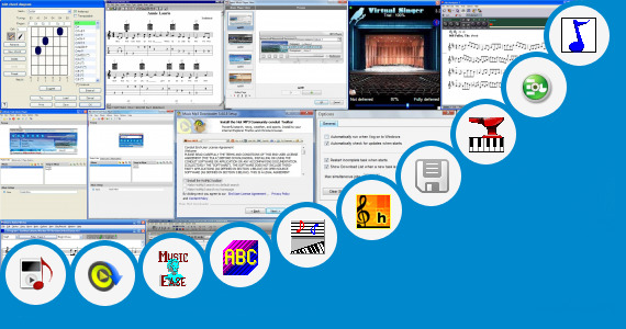 Software collection for Editable Music Staff