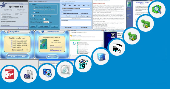 Software collection for Windows 7 Registry Snapshot