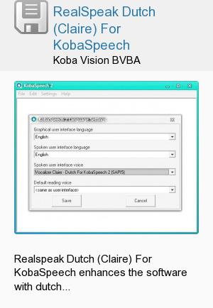 RealSpeak Dutch (Claire) For KobaSpeech