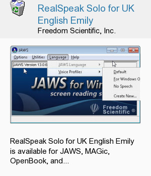 RealSpeak Solo for UK English Emily