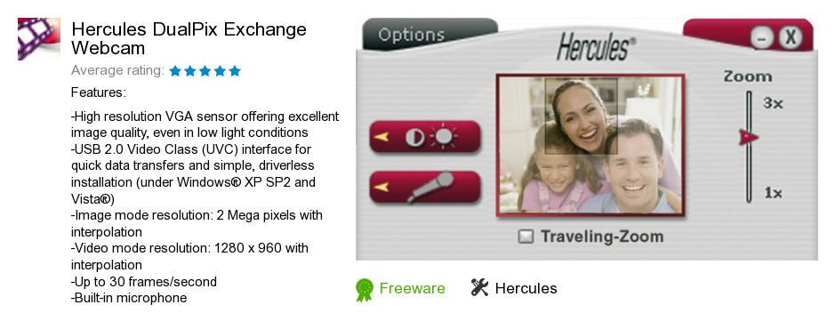 Hercules DualPix Exchange Webcam