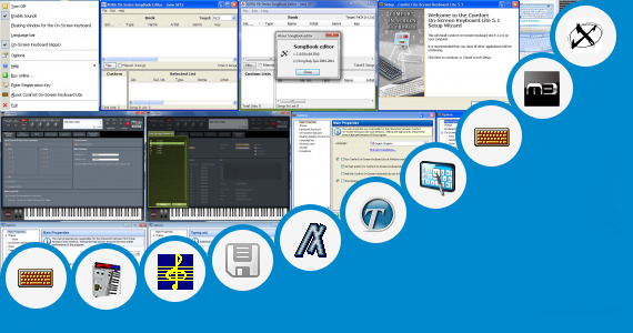 Software collection for Virtual Korg Keyboard Keyboard