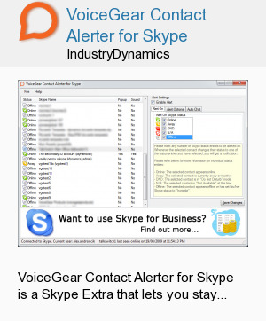 VoiceGear Contact Alerter for Skype