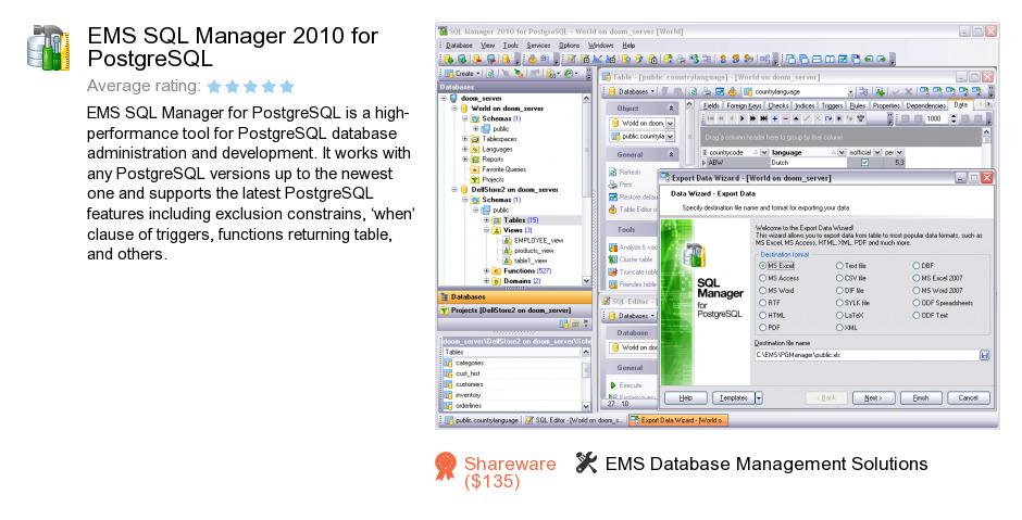 EMS SQL Manager 2010 for PostgreSQL