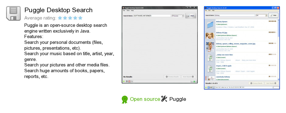 Puggle Desktop Search