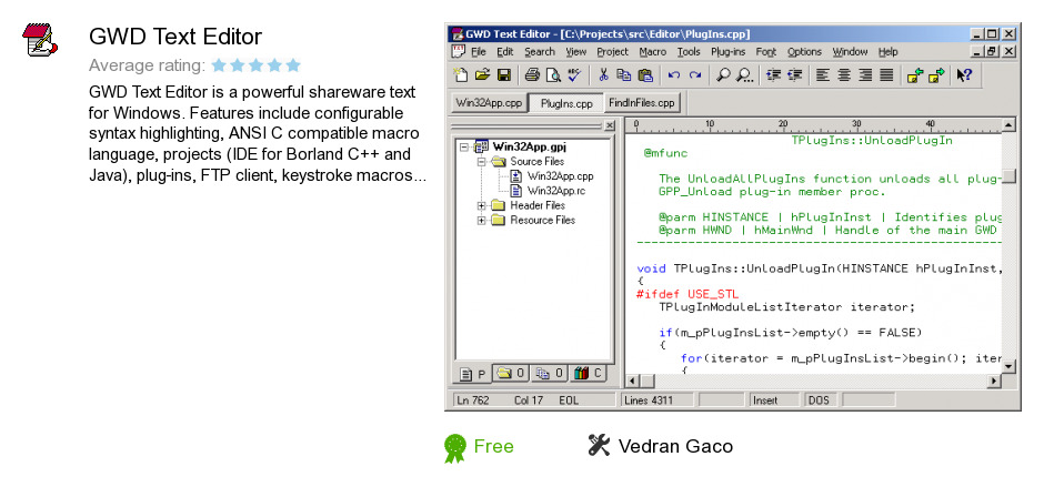 GWD Text Editor