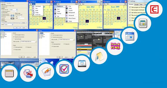 Calendar Organization Software : Calendar organizer desktop pink day planner