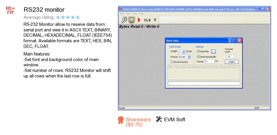 RS232 monitor