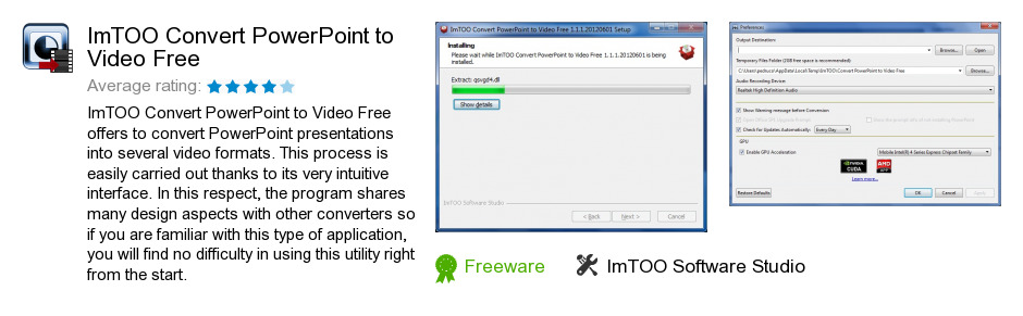 ImTOO Convert PowerPoint to Video Free