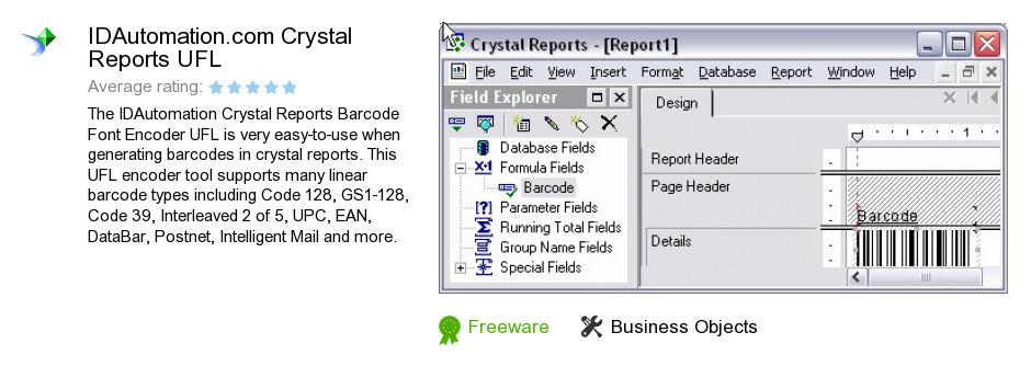 IDAutomation.com Crystal Reports UFL