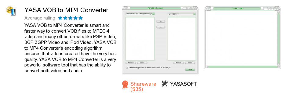 YASA VOB to MP4 Converter