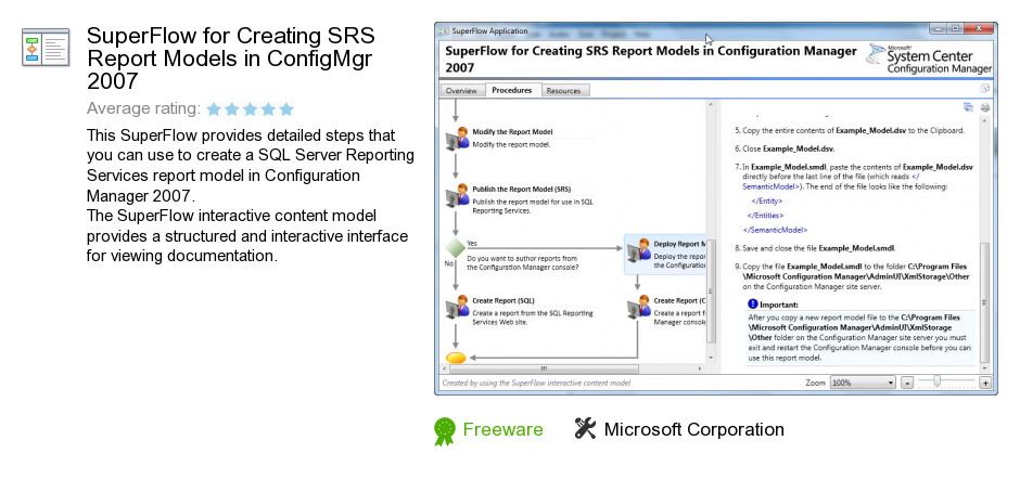 SuperFlow for Creating SRS Report Models in ConfigMgr 2007