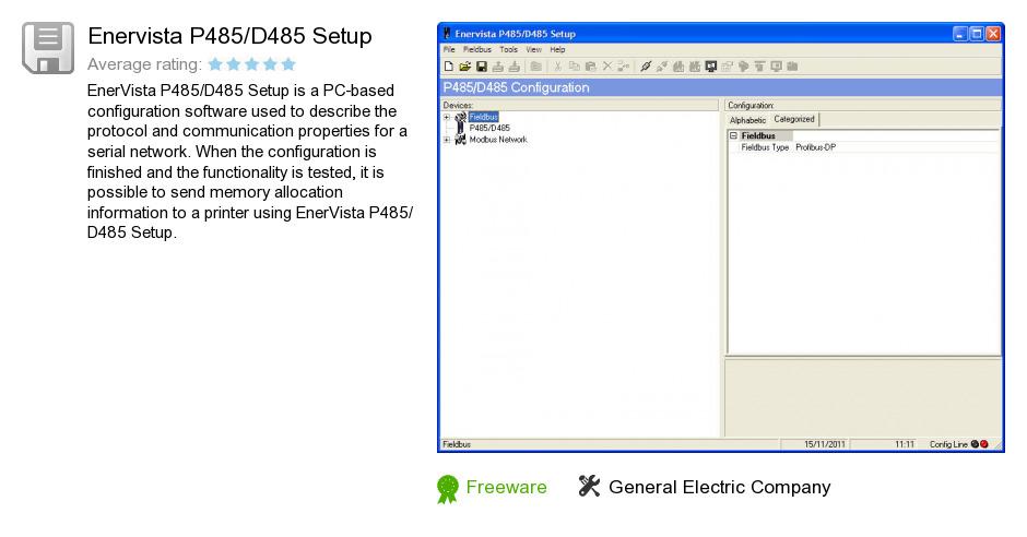 Enervista P485/D485 Setup