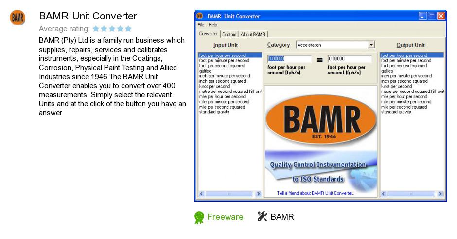 BAMR Unit Converter