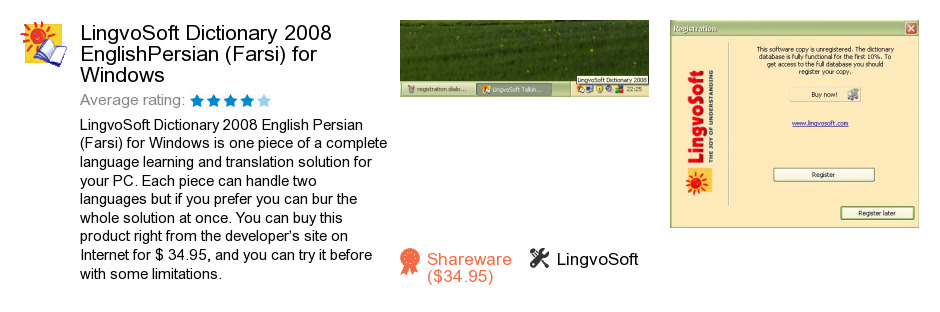 LingvoSoft Dictionary 2008 English<->Persian (Farsi) for Windows