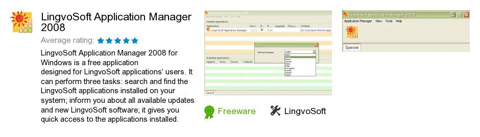 LingvoSoft Application Manager 2008
