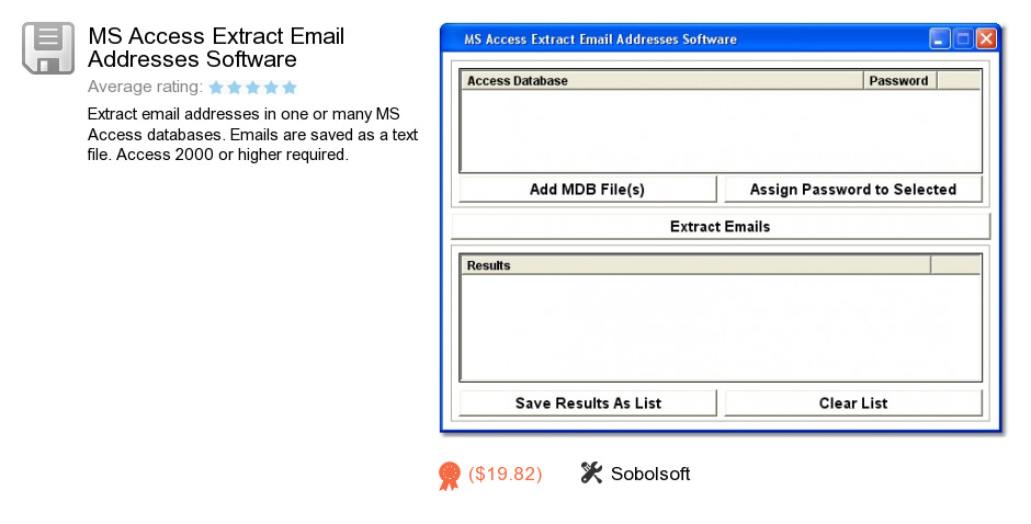 MS Access Extract Email Addresses Software