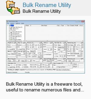 Bulk Rename Utility