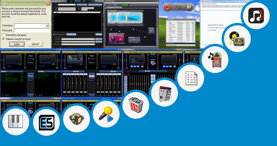 Software collection for Virtual Mpc Style Music Production