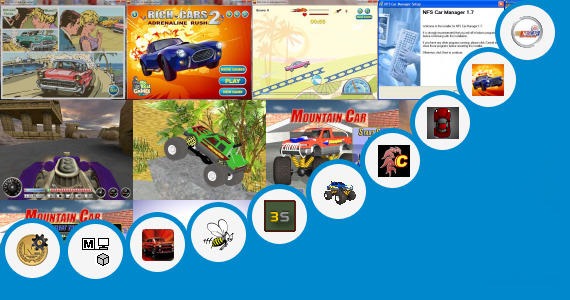Software collection for 190 Kb Car Games
