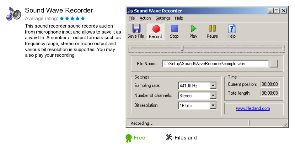 Sound Wave Recorder