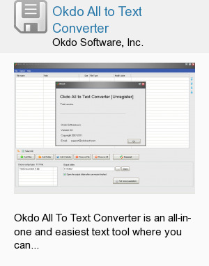 Okdo All to Text Converter
