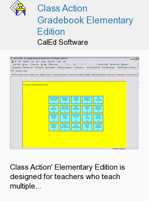 Class Action Gradebook Elementary Edition