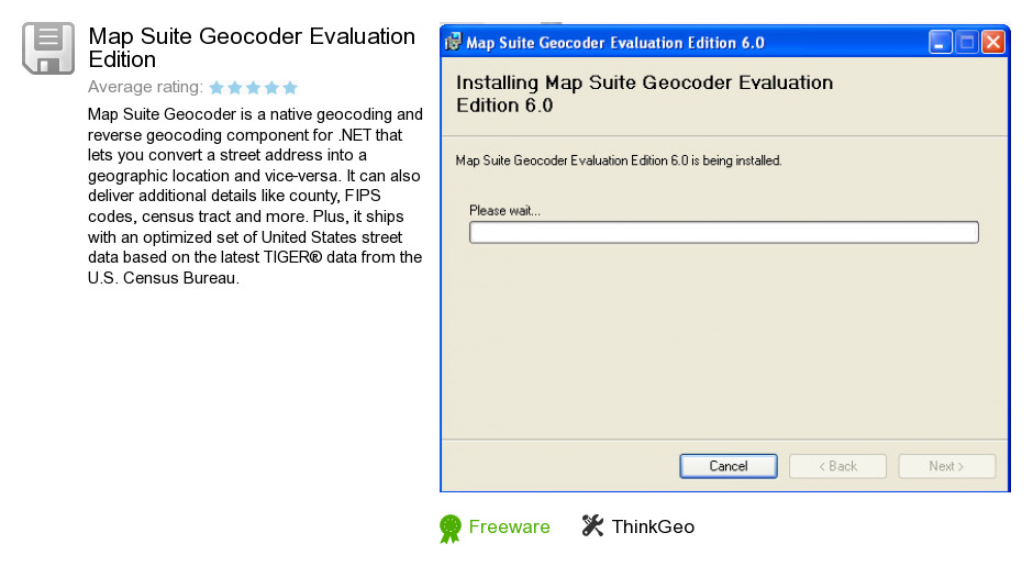 Map Suite Geocoder Evaluation Edition
