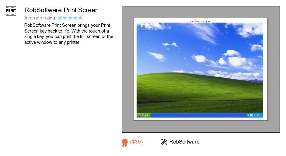 RobSoftware Print Screen