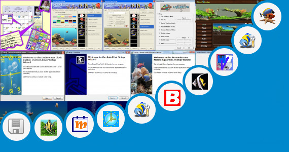 Software collection for Aquarium Backgrounds Printable