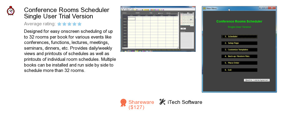 Conference Rooms Scheduler Single User Trial Version
