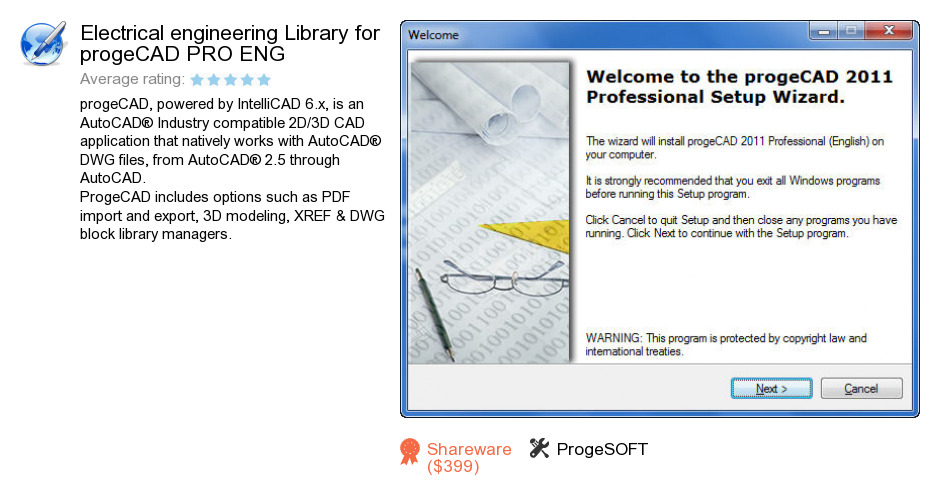 Electrical engineering Library for progeCAD PRO ENG