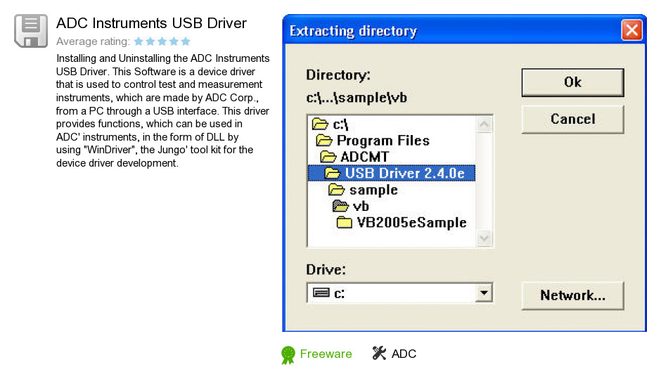 ADC Instruments USB Driver