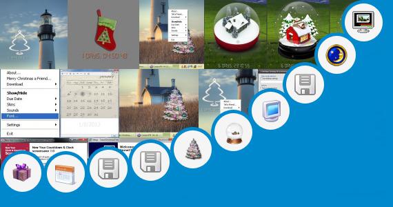 Countdown Calendar Wallpaper Or Screensaver : Christmas desktop countdown wallpaper new year