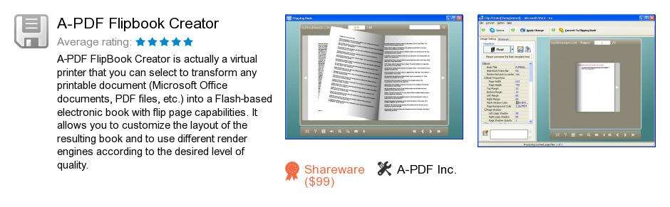A-PDF Flipbook Creator