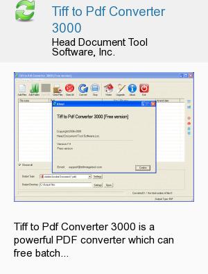 Tiff to Pdf Converter 3000