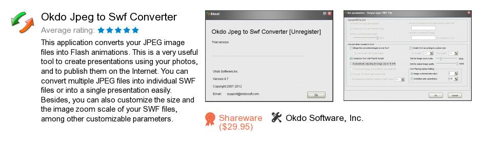 Okdo Jpeg to Swf Converter