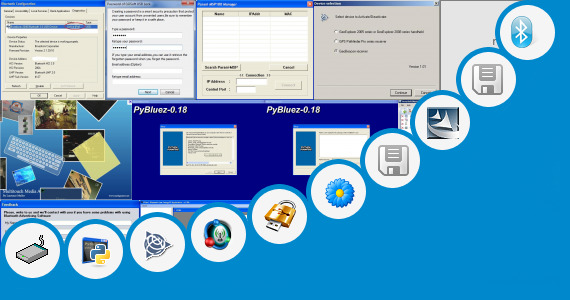 Software collection for Bluetooth Application Software