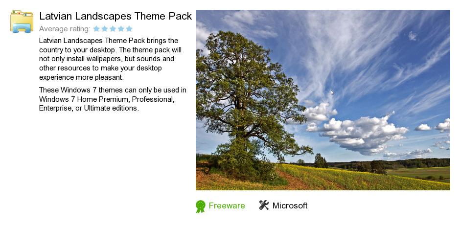 Latvian Landscapes Theme Pack
