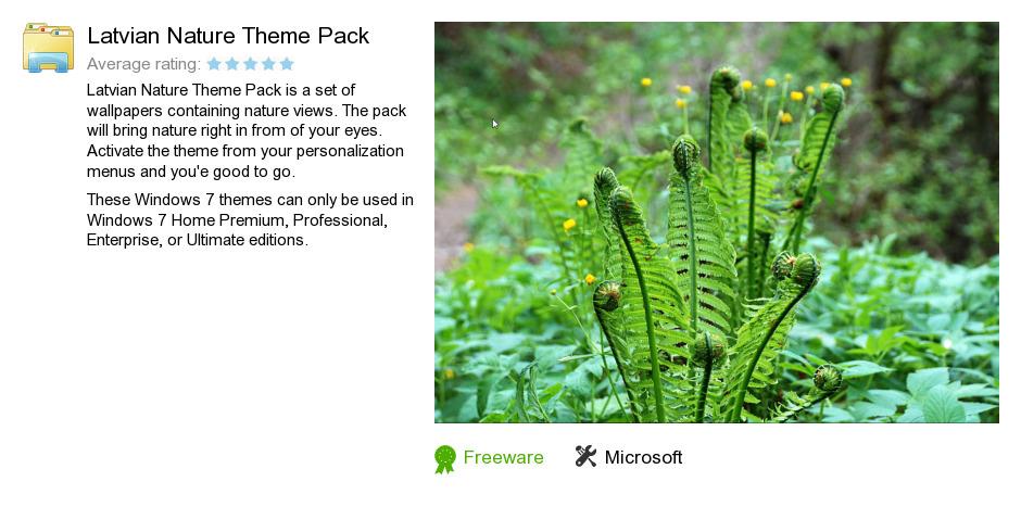 Latvian Nature Theme Pack