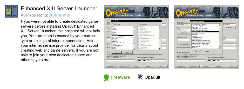 Enhanced XIII Server Launcher