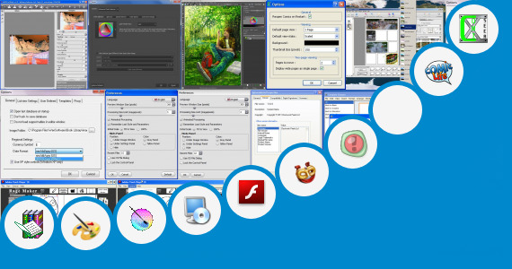 Software collection for Comic Designer Software