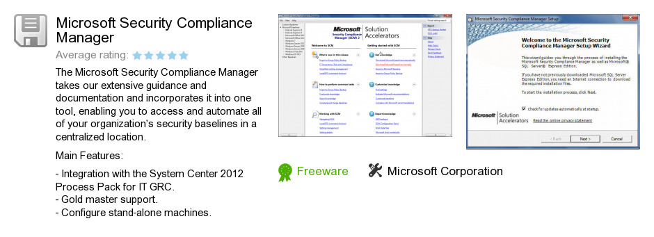 Microsoft Security Compliance Manager