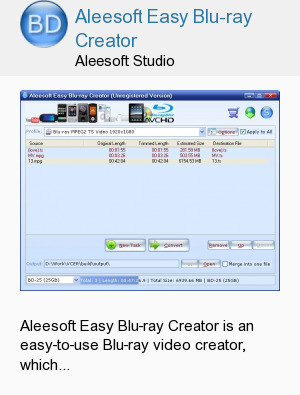 Aleesoft Easy Blu-ray Creator