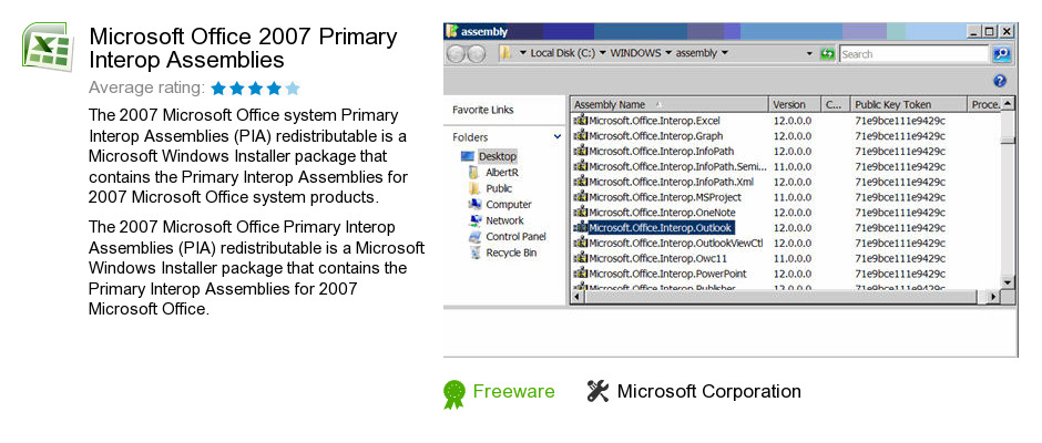 Microsoft Office 2007 Primary Interop Assemblies