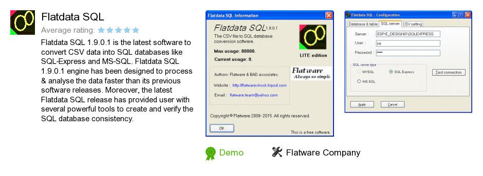 Flatdata SQL