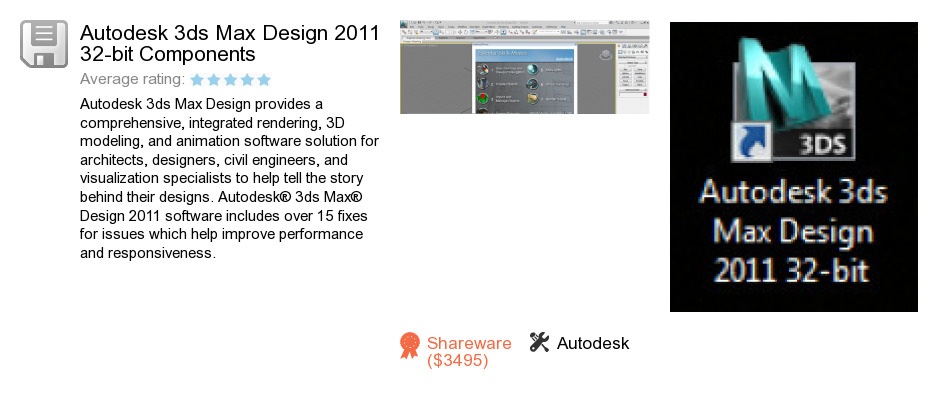 Autodesk 3ds Max Design 2011 32-bit Components