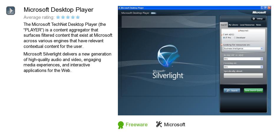 Microsoft Desktop Player