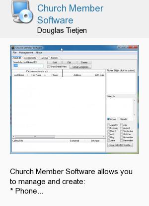 Church Member Software